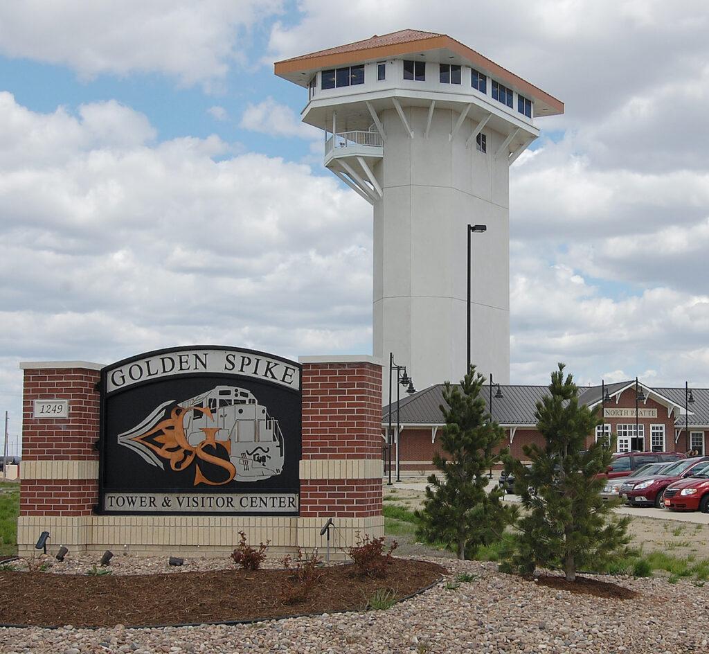 The Golden Spike Tower in North Platte, Nebraska.