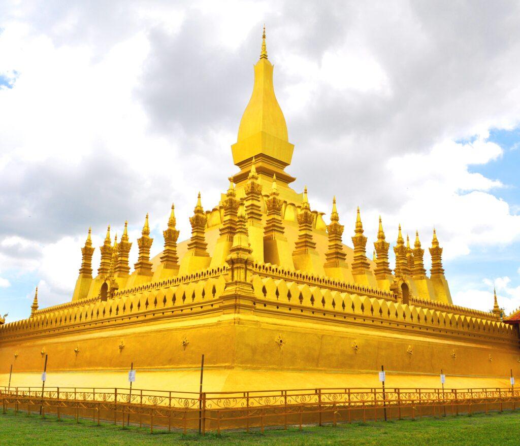 The Golden Stupa in Vientiane, Laos.