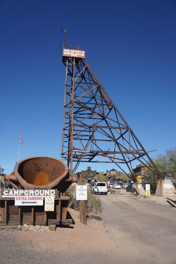 The Goldfield Ghost Town in Arizona.