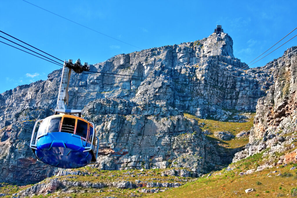 The gondola to the top of Table Mountain in Cape Town.
