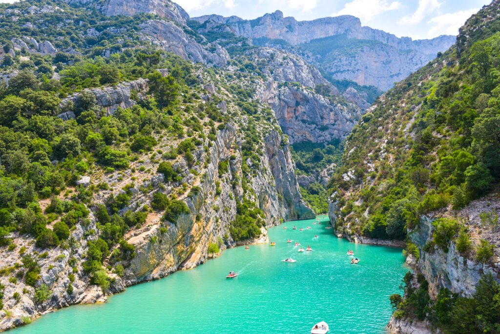 The Gorges du Verdon in Provence, France.