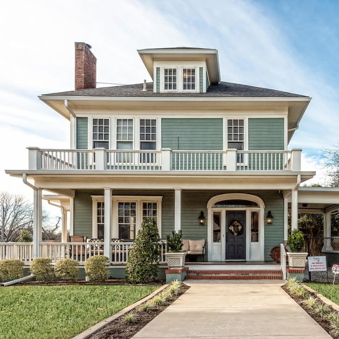 The Gorman House, renovated on the show Fixer Upper.