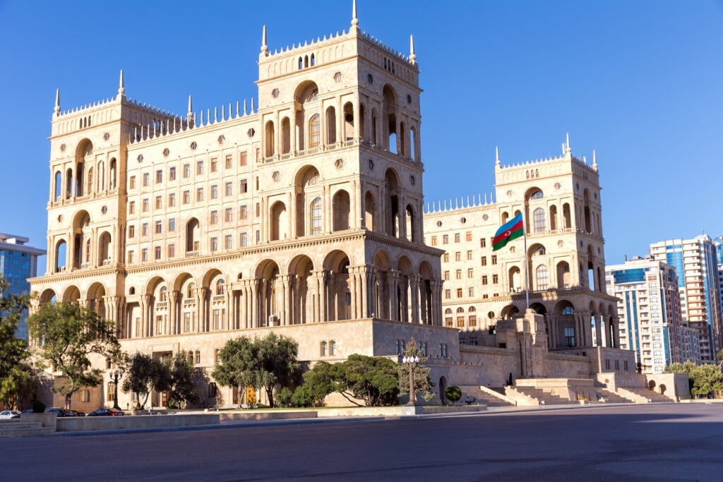 The Government House of Azerbaijan in Baku.