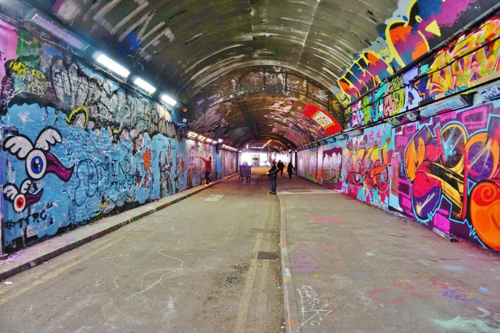 The Graffiti Tunnel in London.
