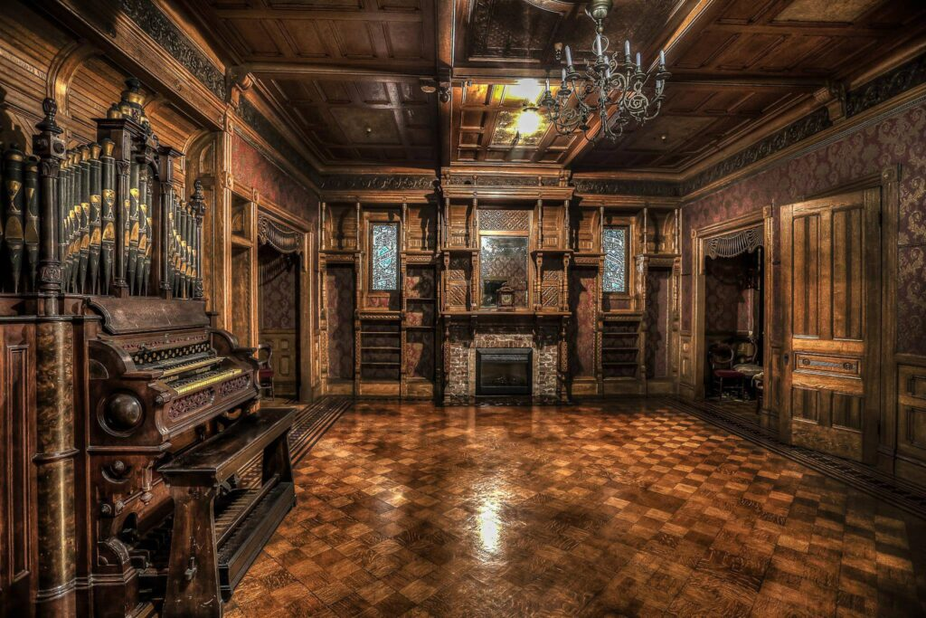 The Grand Ballroom at the Winchester House.