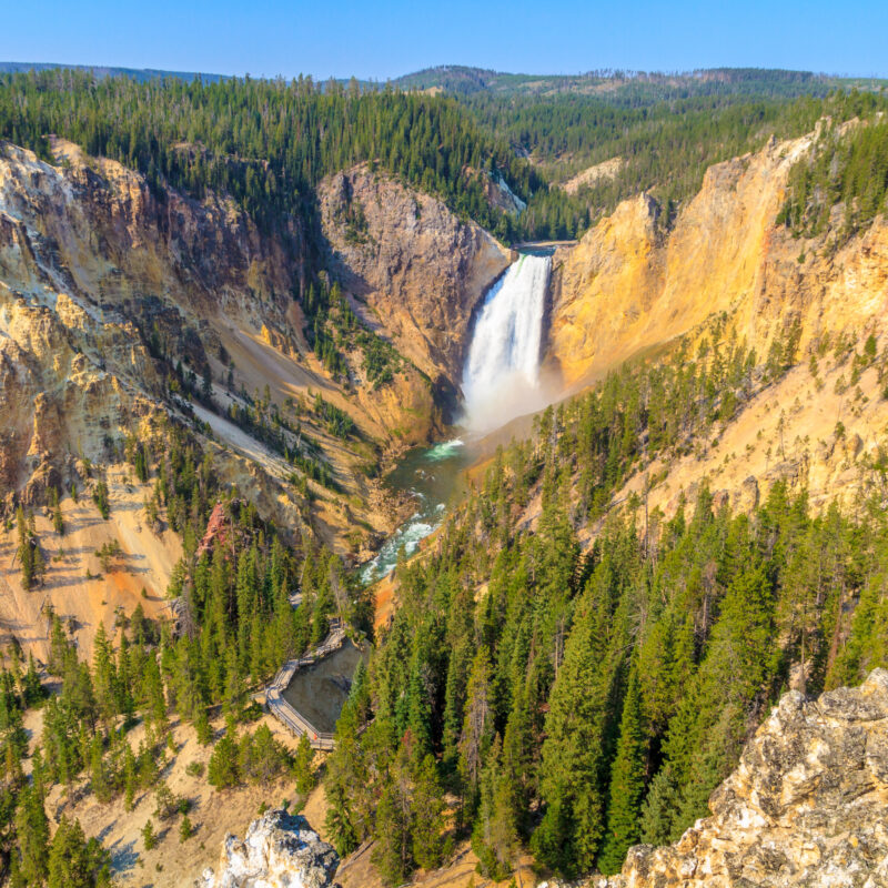 The Grand Canyon of the Yellowstone River.