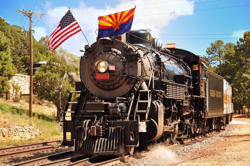 The Grand Canyon Railroad in Arizona.