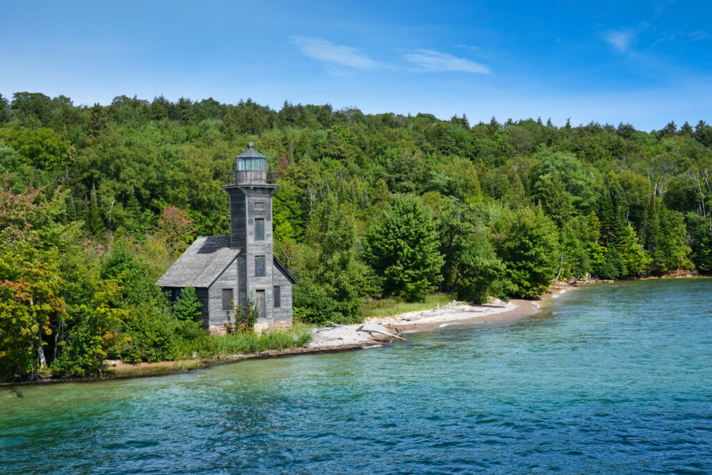 The Grand Island East Channel Lighthouse in Michigan.