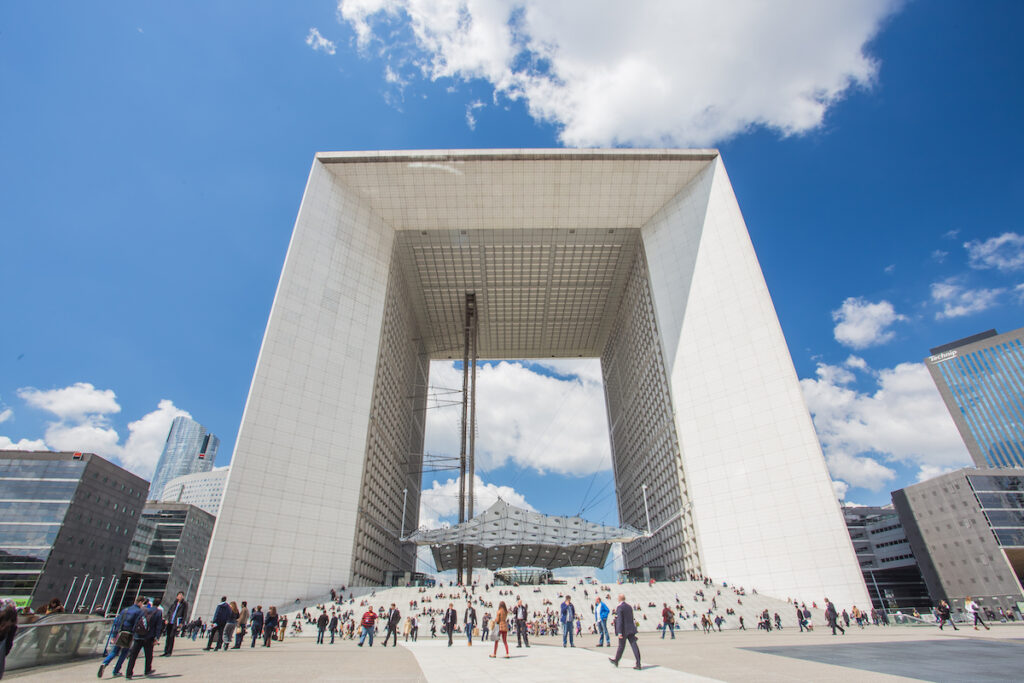 The Grande Arche De La Defense in Paris.