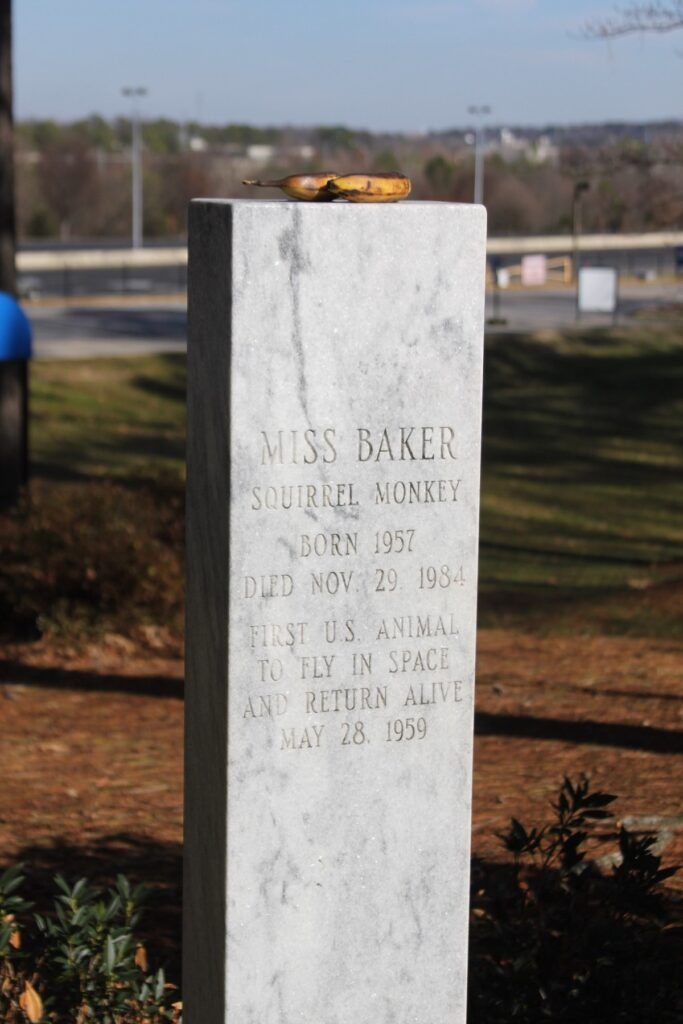 The grave of Miss Baker in Huntsville, Alabama.