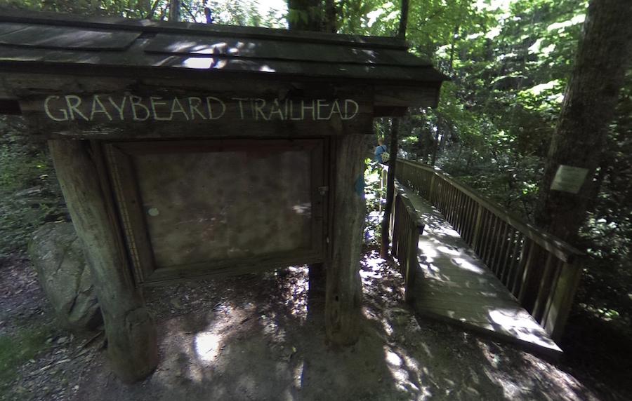 The Graybeard Trailhead in Montreat, North Carolina.