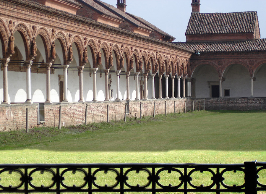 The Great Cloister at the Certosa di Pavia.