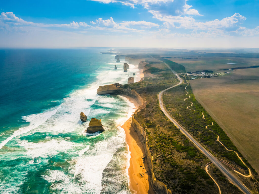 The Great Ocean Road in Australia.