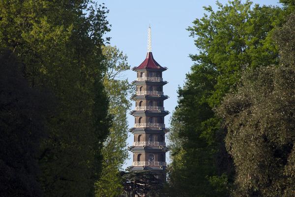 The Great Pagoda at Kew Gardens.