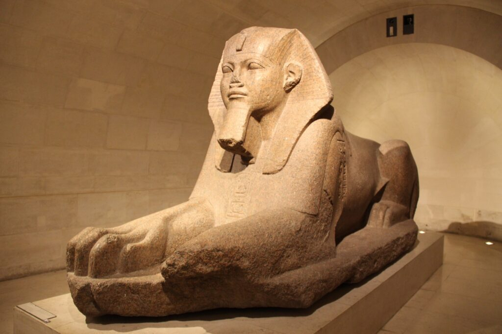 The Great Sphinx Of Tanis inside the Louvre.