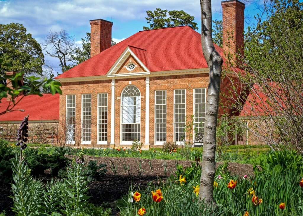 The greenhouse at Mount Vernon.
