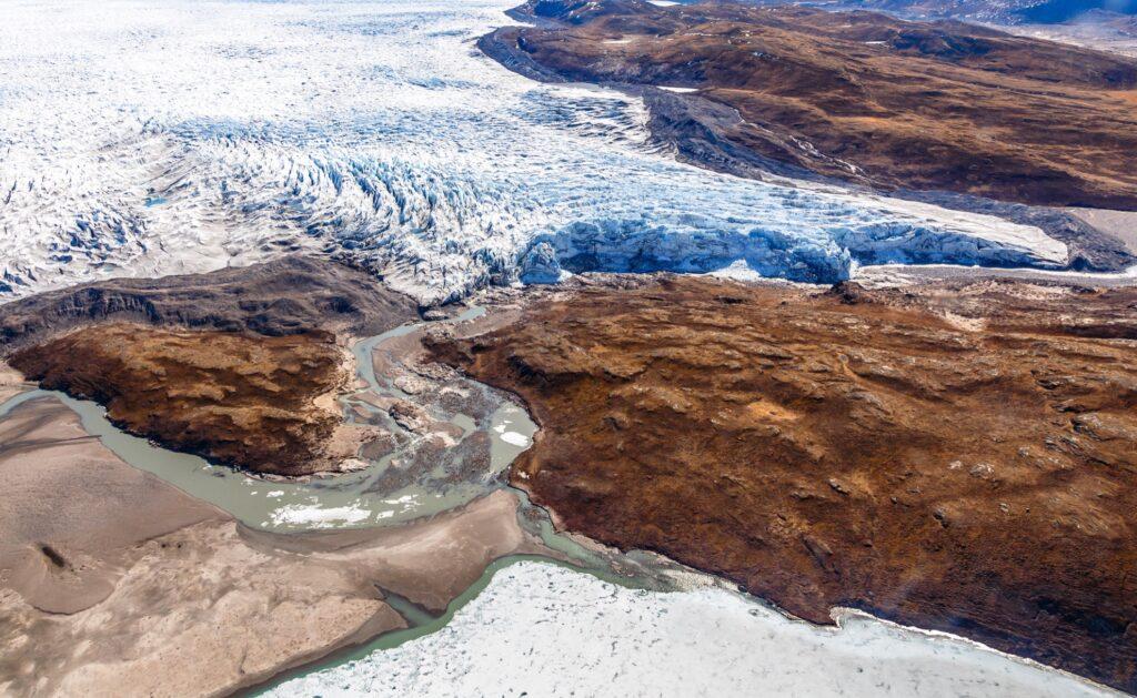 The Greenland ice sheet near Kangerlussuaq.