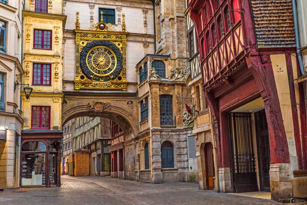 The Gros-Horloge in Rouen, France.