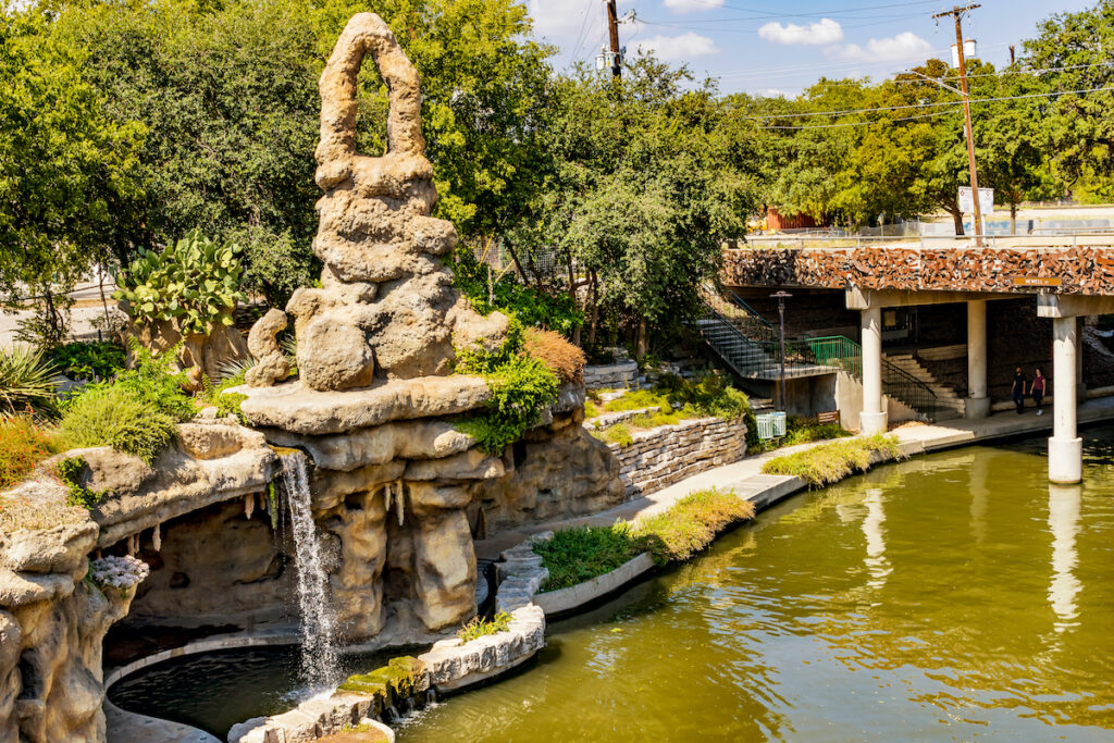 The Grotto along the San Antonio River Walk in Texas.