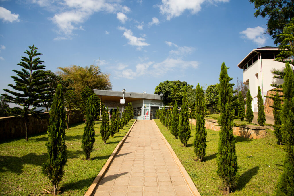 The grounds of the Genocide Museum.