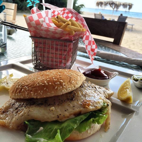 The Grouper Scouper sandwich at the Crishi Beach Club.
