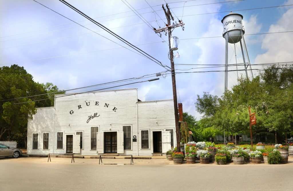 The Gruene Historic District in Texas.