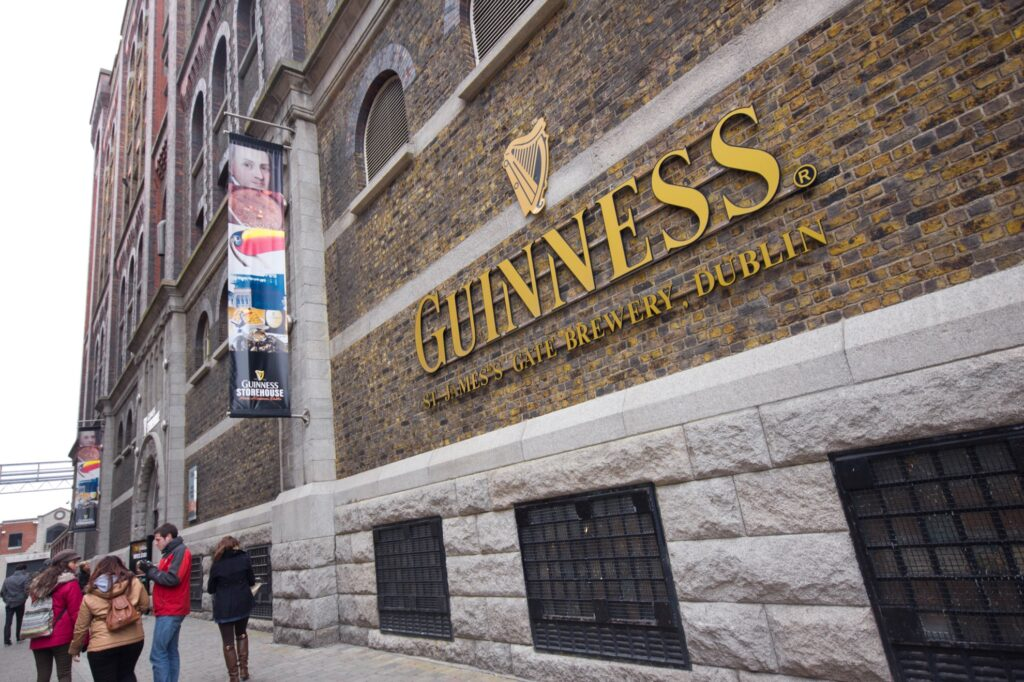 The Guinness Storehouse in Dublin.