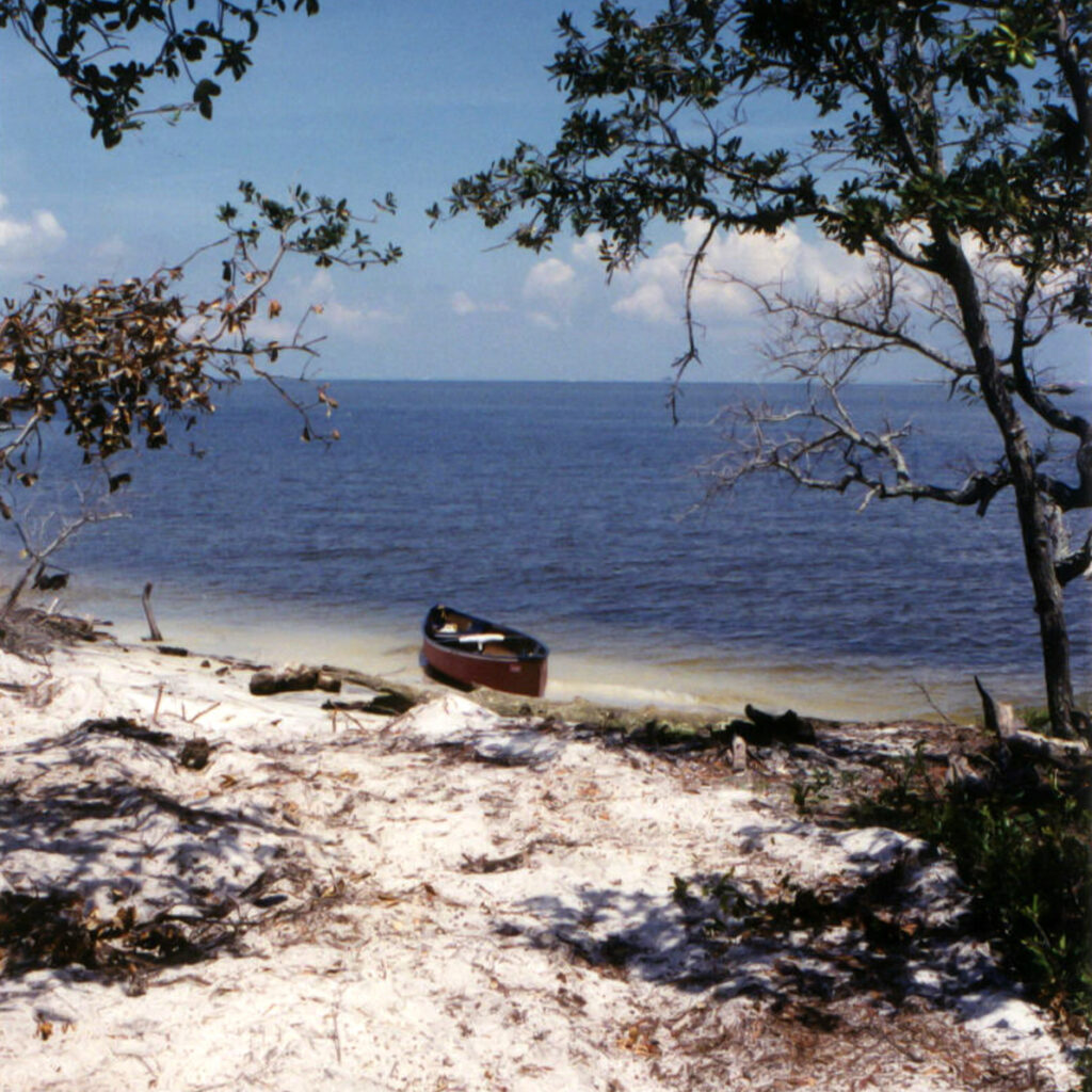 The Gulf of Mexico at the end of the Scenic River Trail.