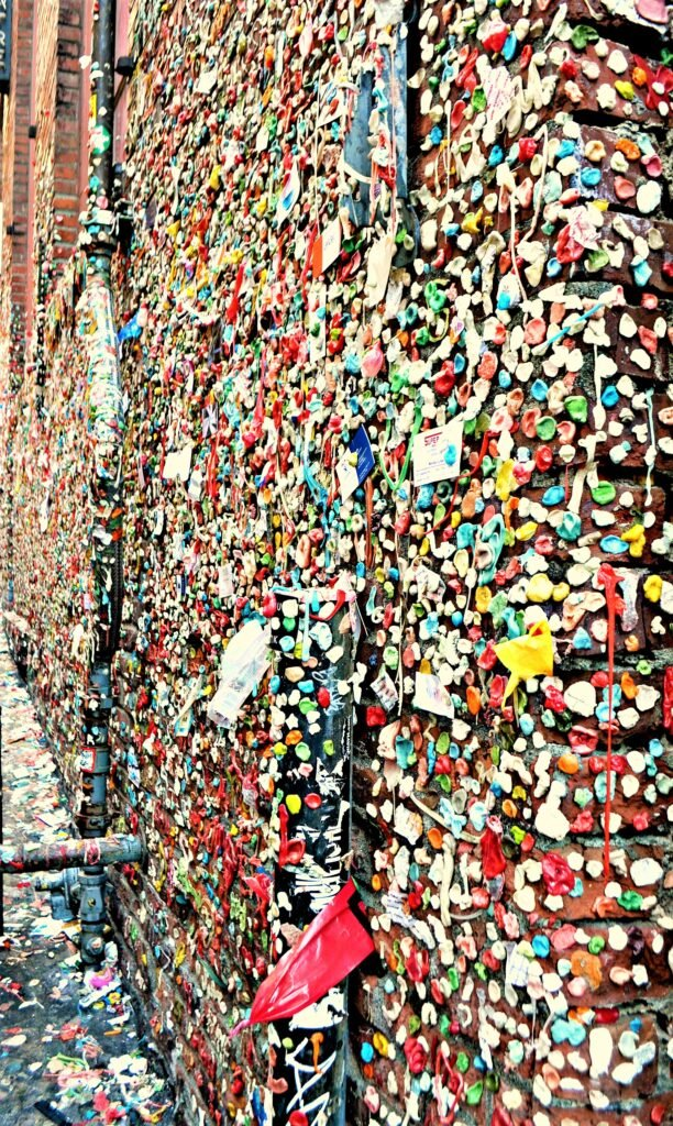 The Gum Wall in Seattle, Washington.