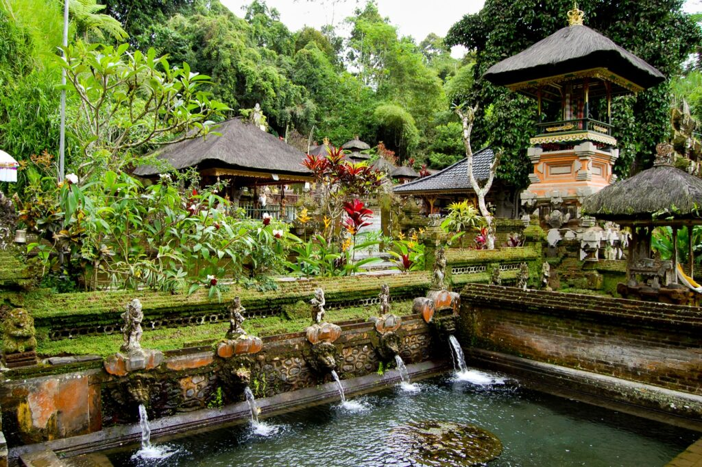 The Gunung Kawi Temple overlooking the Pakersian River.