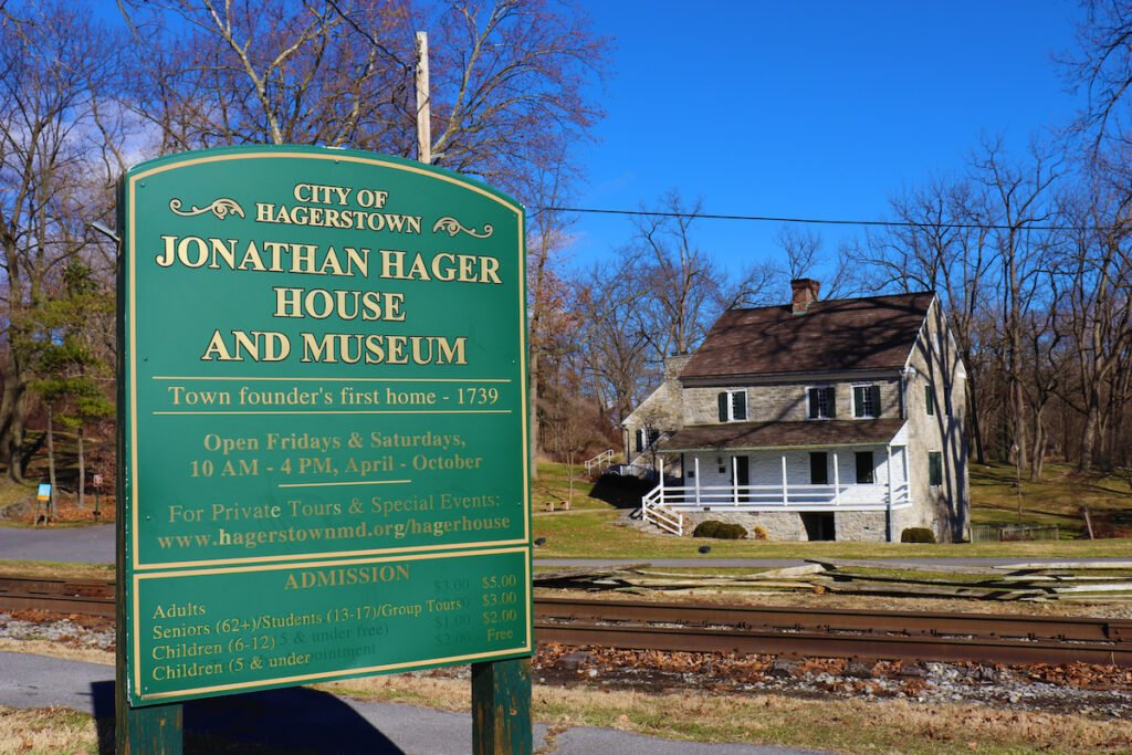 The Hager House in Hagerstown, Maryland.