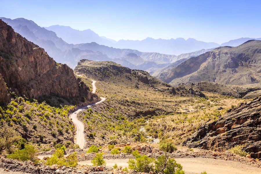 The Hajar mountains in Oman.