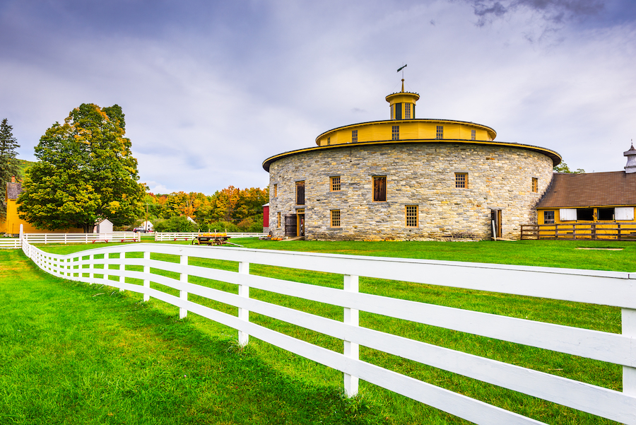 The Hancock Shaker Village in Massachusetts.