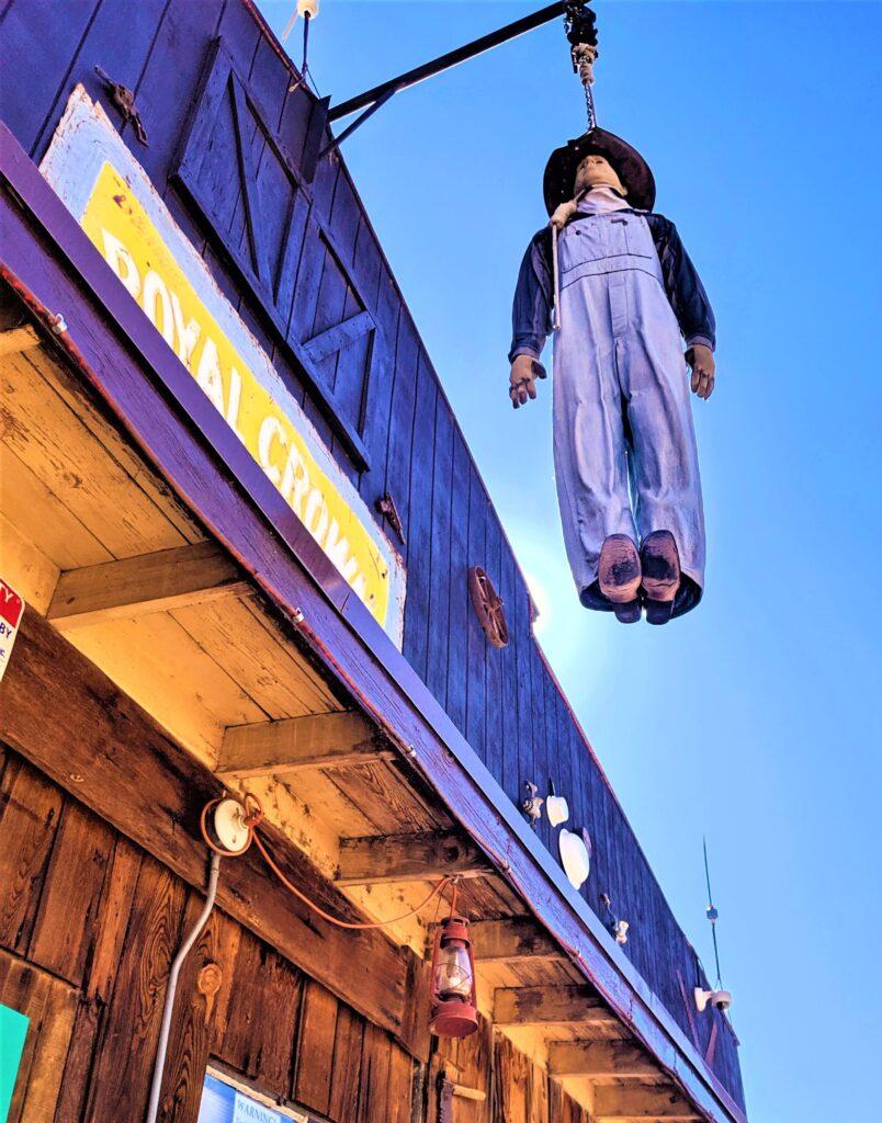 The hanging man in Tortilla Flat, Arizona.