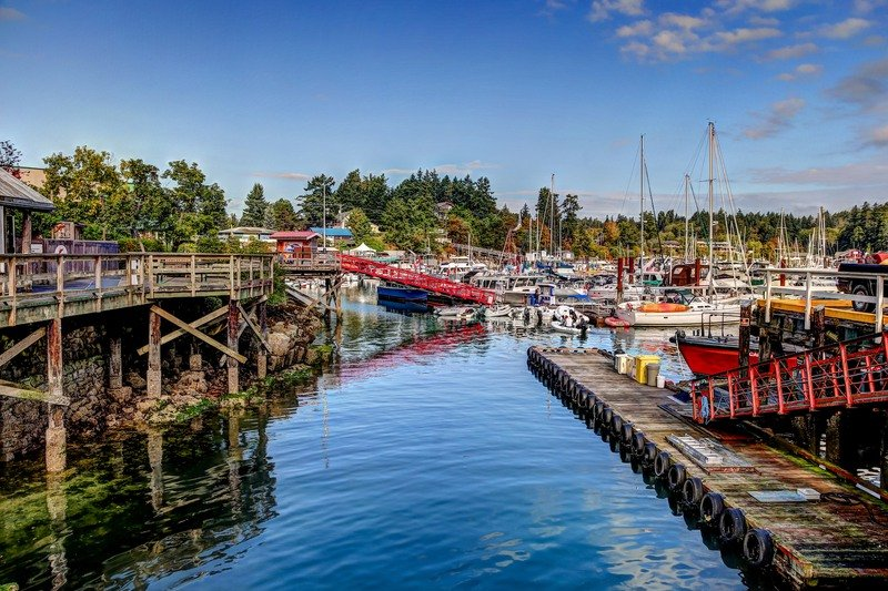 The harbor at Salt Spring Island in Canada.