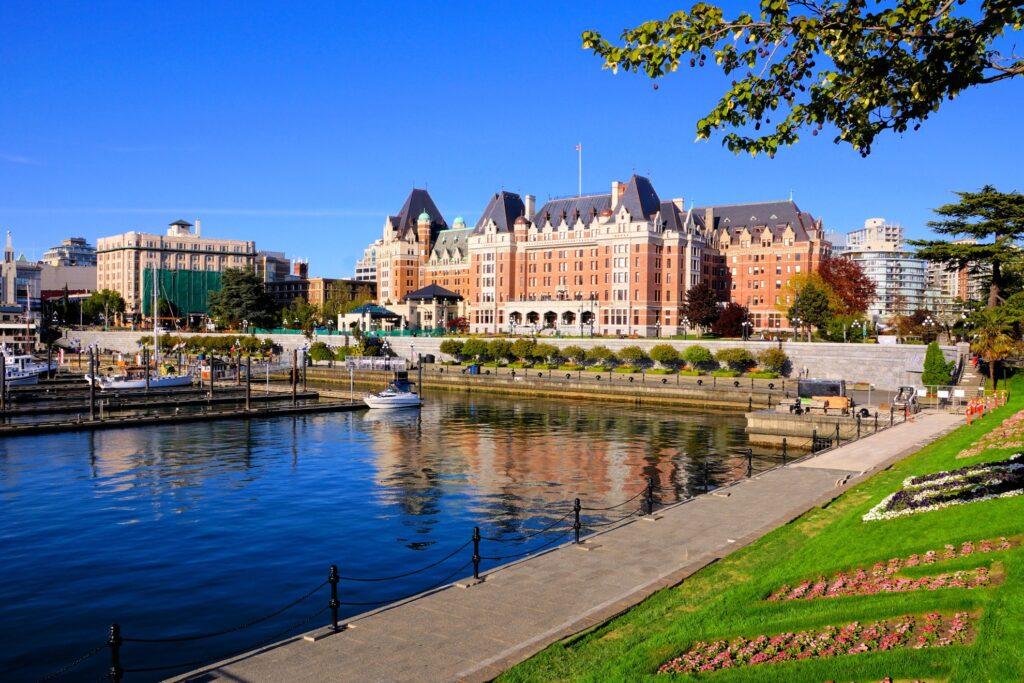 The harbor in Victoria, British Columbia.