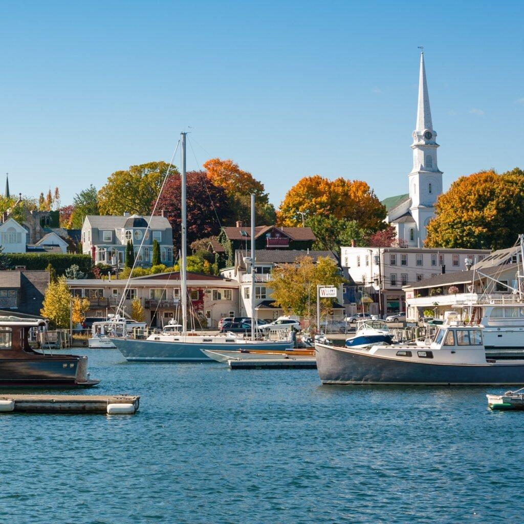 The harbor of Camden, Maine.