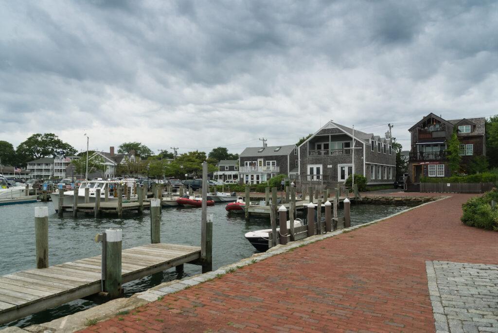 The harbor of Edgartown, Massachusetts.