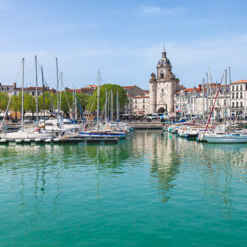 The harbor of La Rochelle, France.