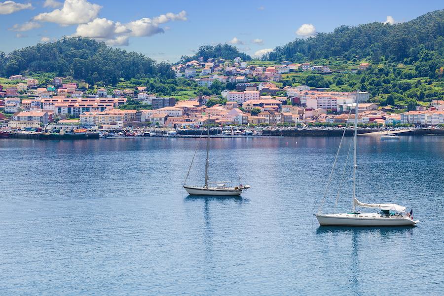 The harbor of Muros in Galicia, Spain.
