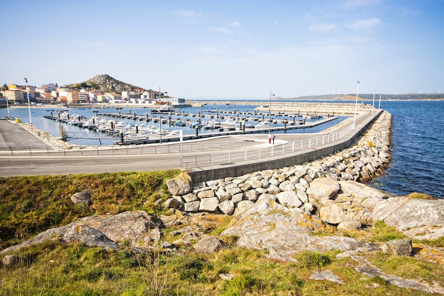 The harbor of Muxia in Galicia, Spain.