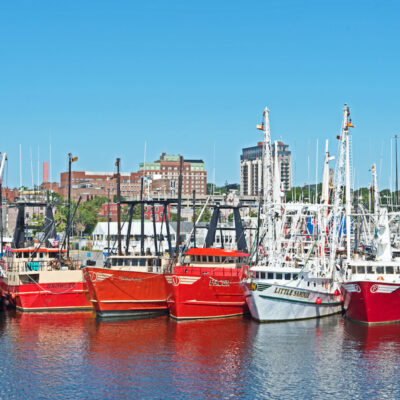 The harbor of New Bedford, Massachusetts.