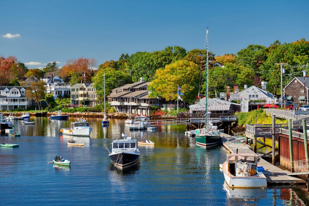 The harbor of Ogunquit, Maine.