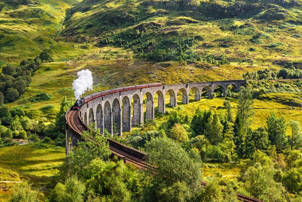 The Harry Potter bridge in Scotland.