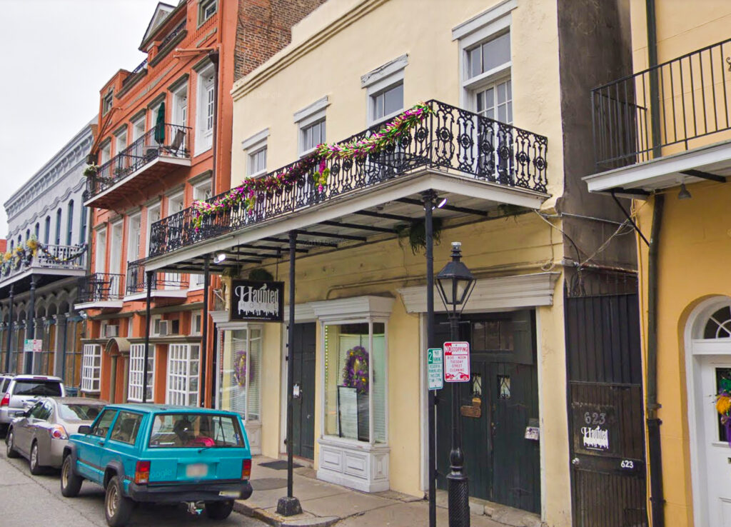 The Haunted Hotel At 623 Ursulines in New Orleans.