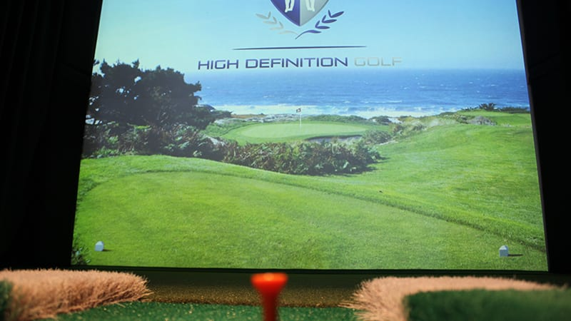 The HD Golf Simulator at the Beach Club Resort.
