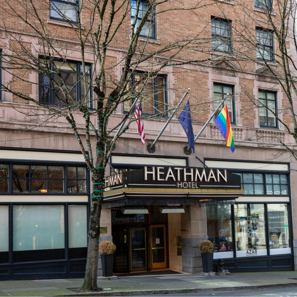 The Heathman Hotel in Portland, Oregon.