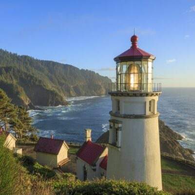 The Heceta Head Lighthouse in Florence, Oregon.