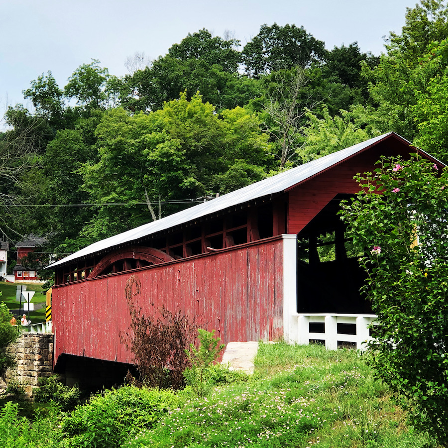 The Herline Covered Bridge in Bedford County.