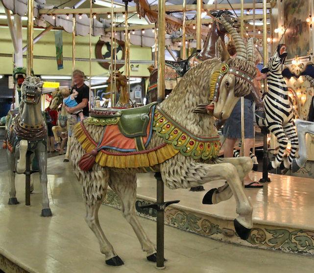The Herschell-Spillman Carousel in Ocean City, Maryland